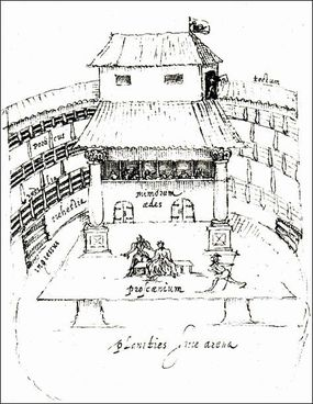 Drawing of the Swan Theater